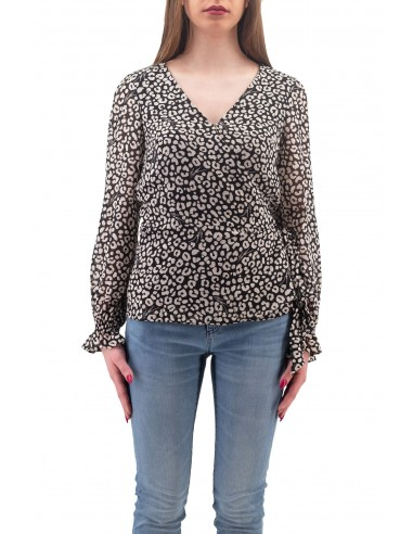 BLUSA MICHAEL KORS IN GORGETTE CON...