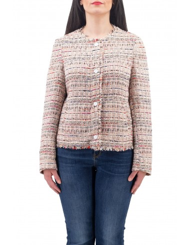 GIACCA DIANA GALLESI IN TWEED MULTICOLOR