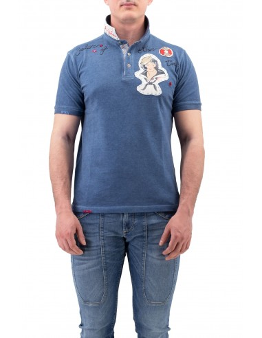 POLO BOB DENIM A MANICA CORTA IN...