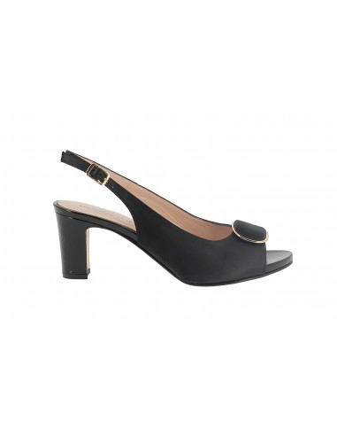 SANDALO DONNA SOFT NERO IN RASO CON...