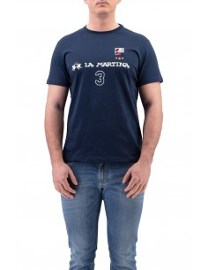 T-SHIRT LA MARTINA BLU IN...