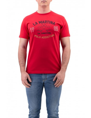 T-SHIRT LA MARTINA ROSSA IN COTONE...